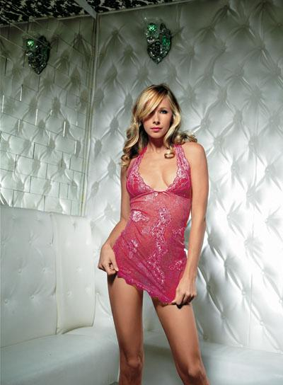 Halter Lace Dress; Pink