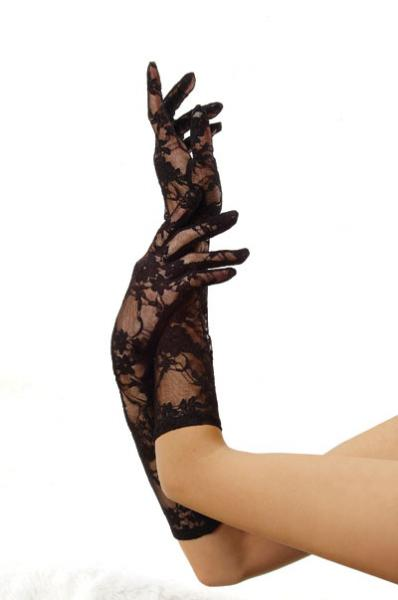 Elbow Length Stretch Lace Glov