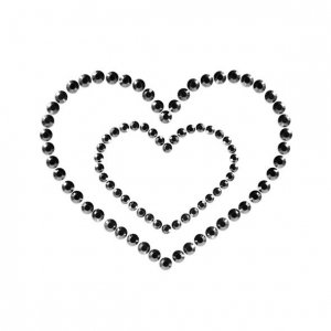 Mi Mi Nipple Heart Black
