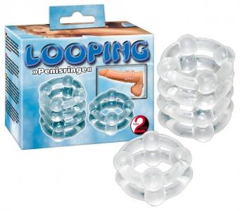 Set inele manson penis - Looping Silicon Ringset