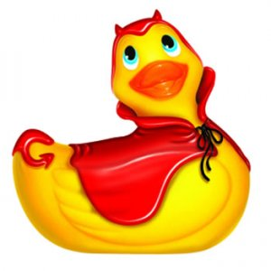 I Rub My Duckie Devil Red