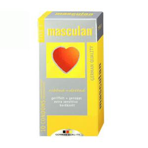 Masculan Ribbed + Dotted 10